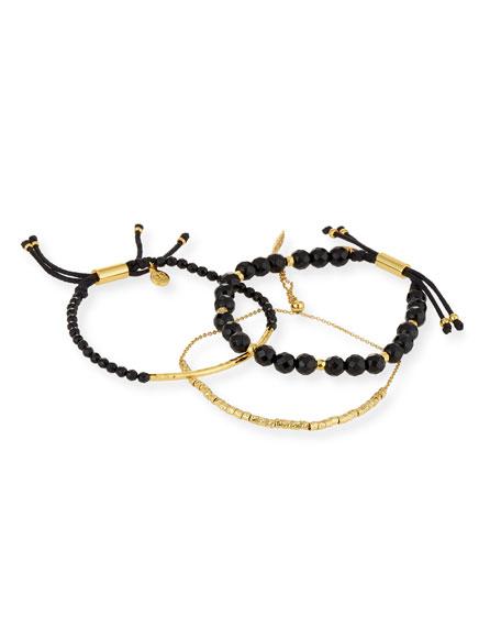 Laguna Black Beaded Bracelets, Set of 3