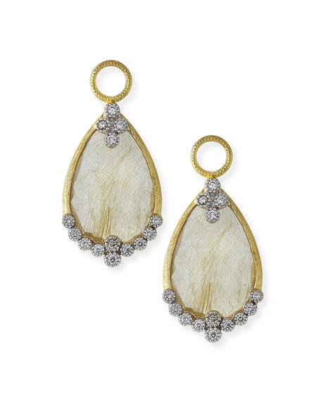 Provence Rutilated Quartz & Diamond Earring Charms
