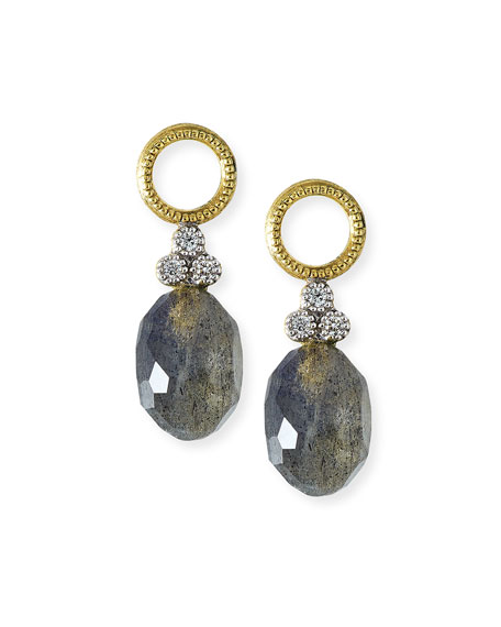 Jude Frances Provence Labradorite & Black Onyx Earring Charms with Diamonds