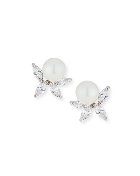 Fallon Monarch Pearly Cluster Earrings