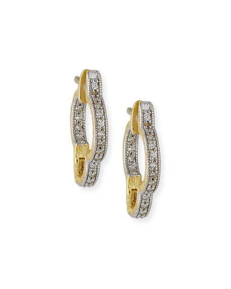 Lisse Small Clover Hoop Earrings with Diamonds