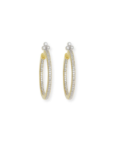 Provence Medium Pavé Diamond Hoop Earrings