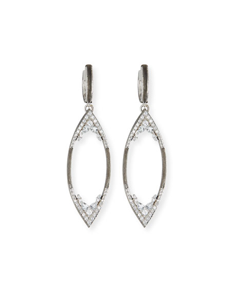 Jude Frances City Lights Brushed Open Marquis Earring