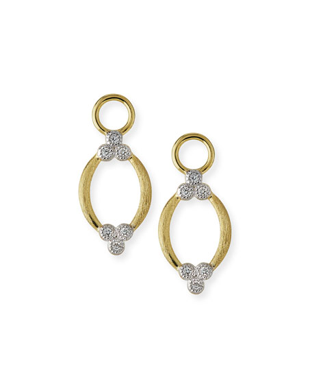 Jude Frances Provence Brushed Open Marquis Earring Charms