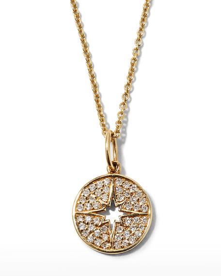 Anniversary Small Starburst Medallion Necklace with Diamonds