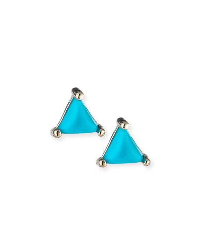 Koi Triangle Stud Earrings