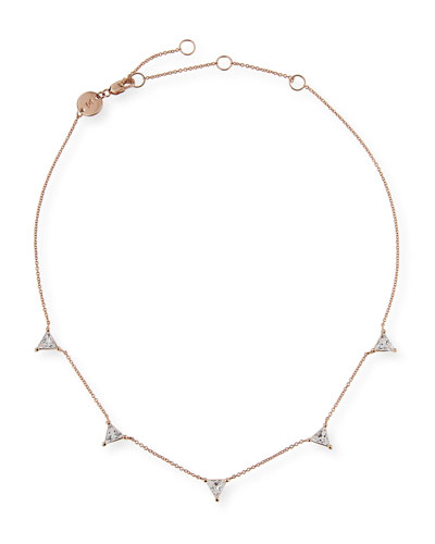 Jennifer Zeuner Luz Trillion-Cut White Sapphire Necklace