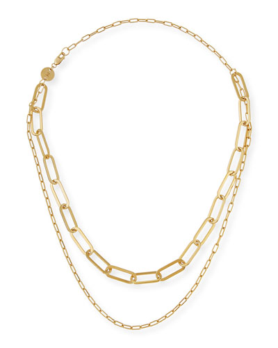 Ema Double-Layer Chain Necklace