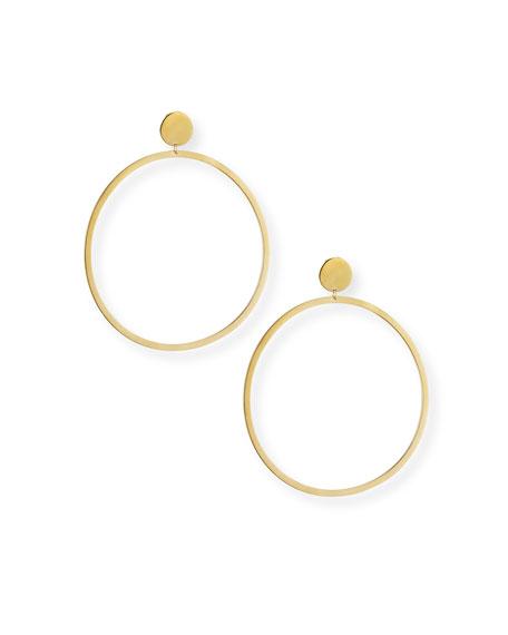 Cleo Circle Stud Hoop Earrings in 18K Gold Plate