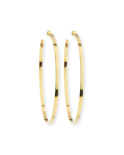 Large Hoop Earrings in 18K Gold Plate