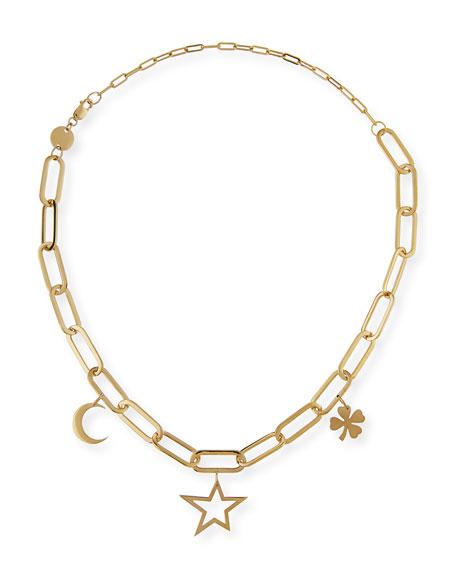 Jennifer Zeuner Margarita Chunky Chain Charm Necklace ZLFbV