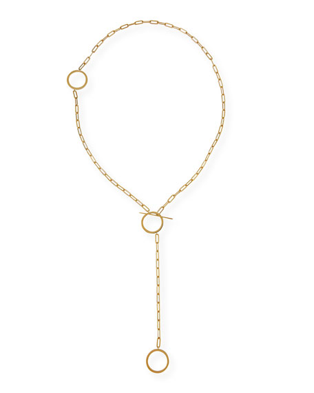 Cora Chunky Chain Lariat Necklace