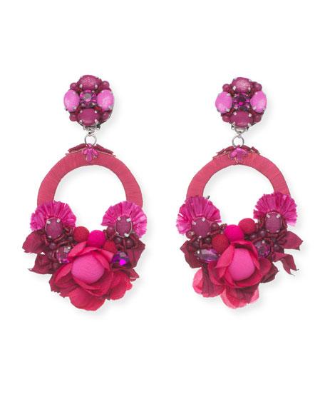 Ranjana Khan Posie Beaded Statement Clip-On Earrings