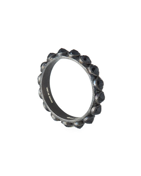 Armenta New World Black Stacking Ring