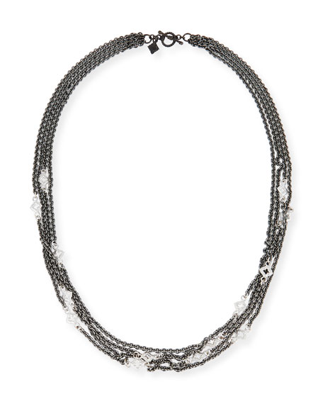 Armenta New World Four-Strand Scroll Necklace