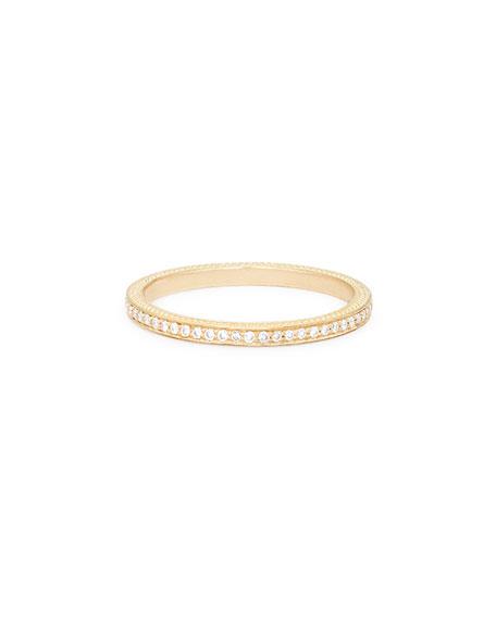 Thin Pavé White Diamond Band Ring
