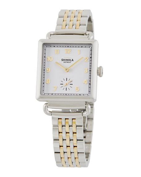 Shinola The Cass 28mm Two-Tone Bracelet Watch
