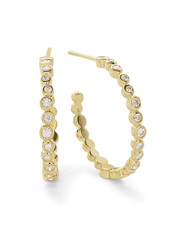 74c9ba6b041a3 Stardust Medium Hoop Earrings in 18K Gold with Diamonds