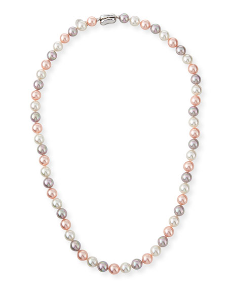 Majorica 8mm White & Pink Simulated Pearl Necklace,