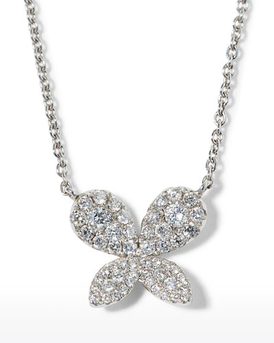 Tiny Treasures Diamond Butterfly Pendant Necklace