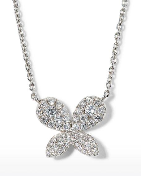 Tiny Treasures Diamond Butterfly Pendant Necklace