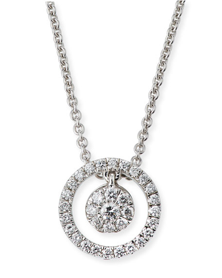 Roberto Coin Tiny Treasures Diamond Halo Circle Pendant