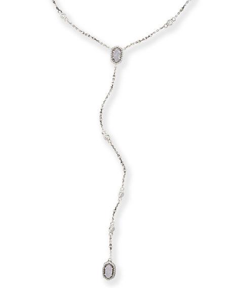 Claudia Y-Drop Statement Necklace