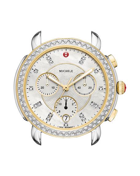 Sidney Two-Tone Watch Head with Diamonds