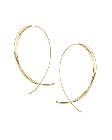 LANA Fifteen 14K Upside Down Twist Hoop Earrings