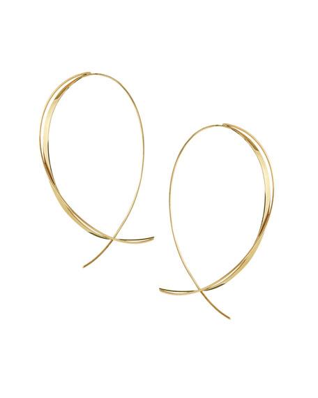 LANA Fifteen 14K Upside Down Twist Hoop Earrings