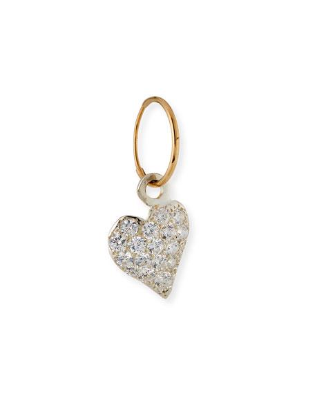 Pavé Apollo Heart Single Earring