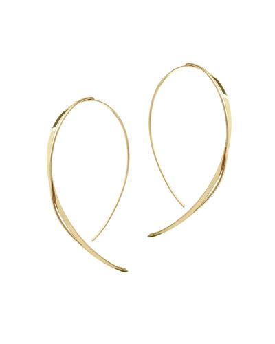 Fifteen 14K Small Upside Down Twist Hoop Earrings