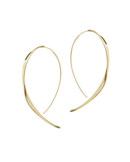 Fifteen 14K Small Upside Down Twist Hoop Earrings