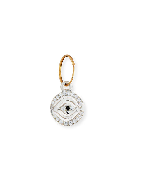 Pavé Eye of Horus Single Earring