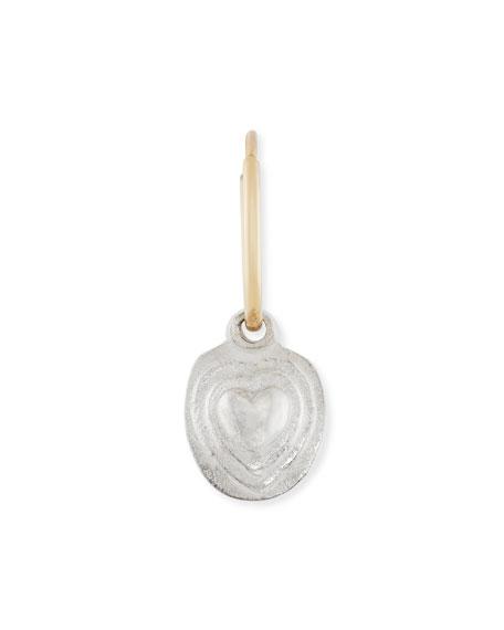 Orchid Heart Single Earring