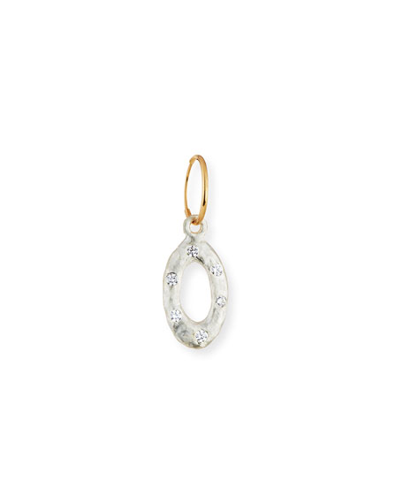Oval Old Money Single Earring with Crystals