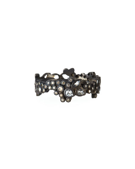 Armenta New World Cluster Ring with Diamonds & White Sapphires