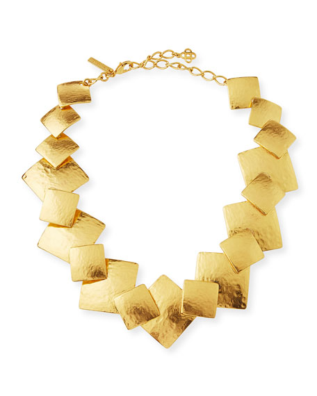Oscar de la Renta Geo Collage Statement Necklace