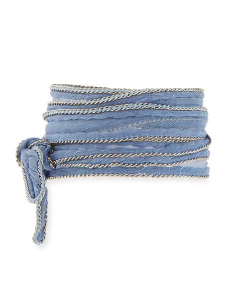 Chan Luu Chain-Trim Fabric Necklace