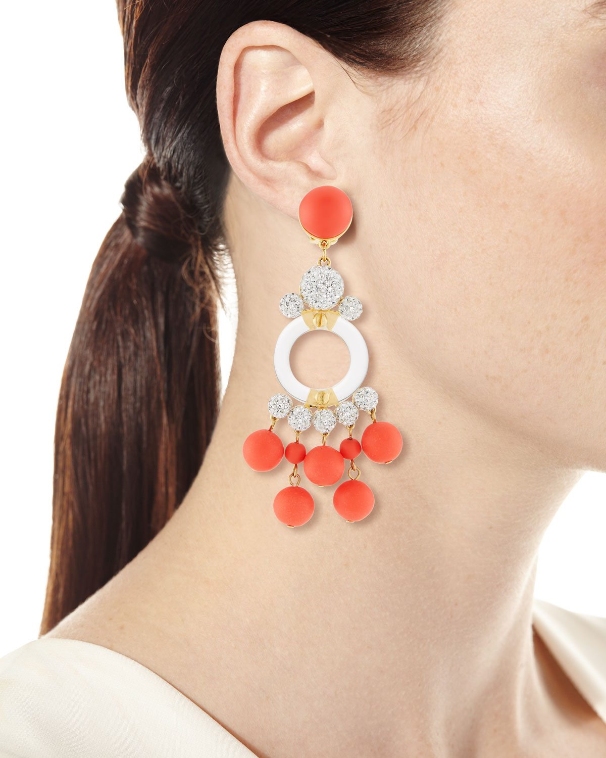 Lele Sadoughi Boulevard Beaded Statement Earrings ybFy7