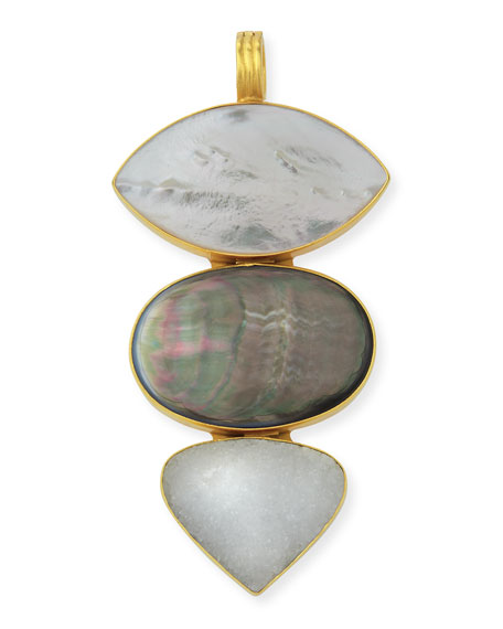 Dina Mackney Stacked Large Mother-of-Pearl Enhancer