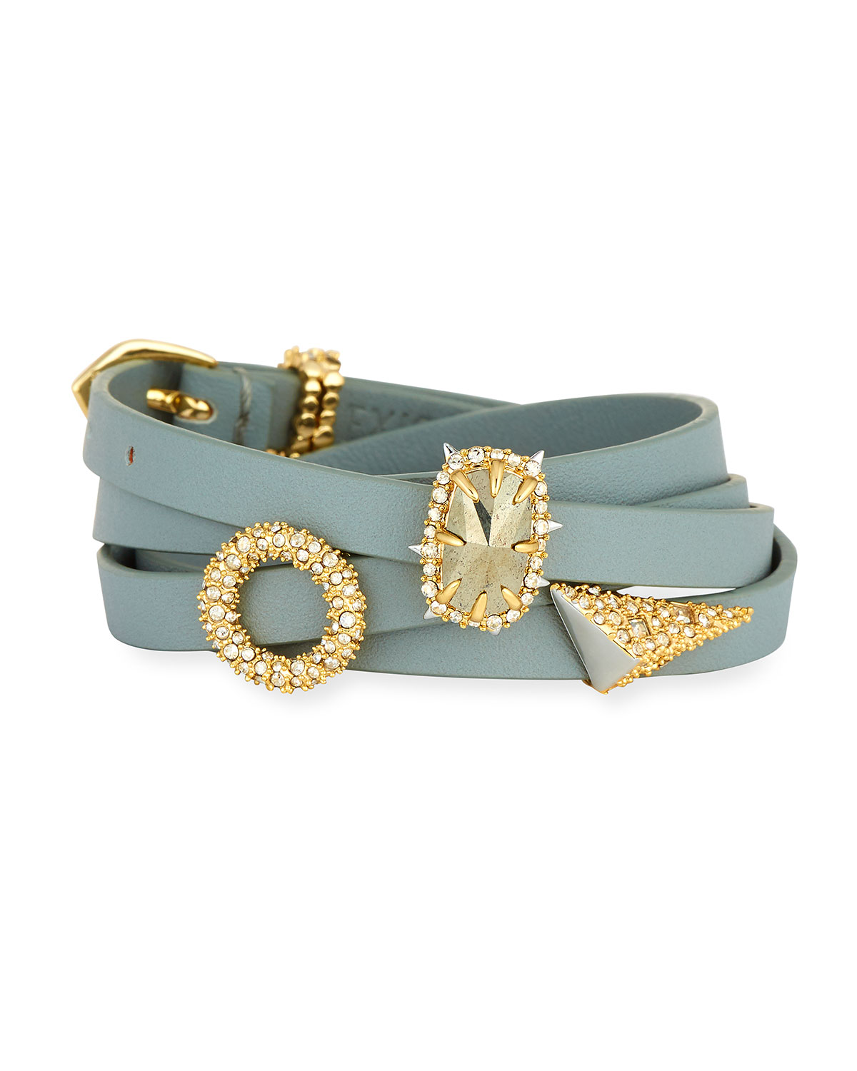Leather Wrap Charm Bracelet: Alexis Bittar Multi-Wrap Leather Charm Bracelet