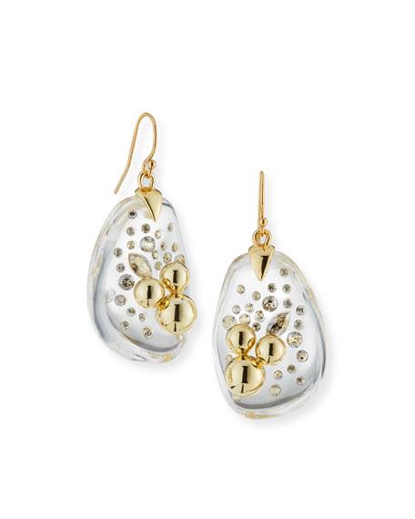 Alexis Bittar Diamond Dust Wire Drop Earrings