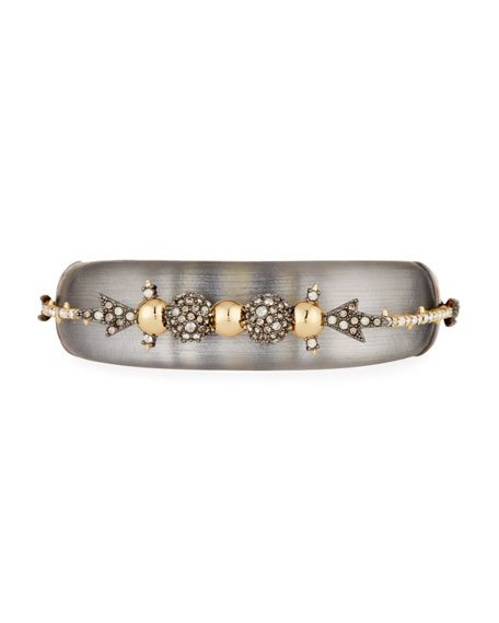 Alexis Bittar Orbiting Crystal Hinged Cuff Bracelet