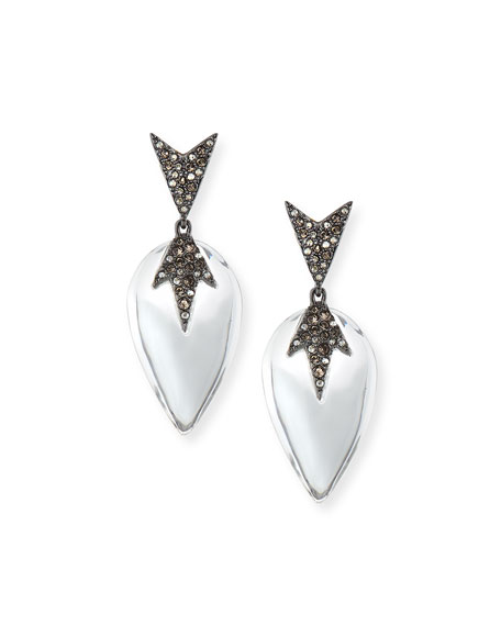 Alexis Bittar Spiky Pavé Encrusted Lucite Earrings
