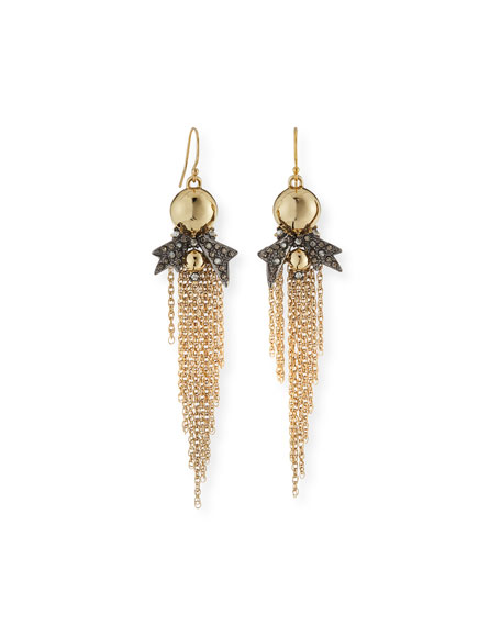 Alexis Bittar Crystal Pavé Tassel Drop Earrings