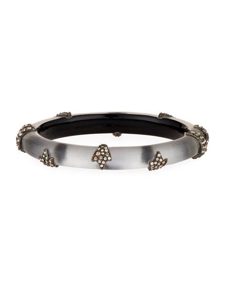 Alexis Bittar Skinny Studded Hinge Bracelet, Gray