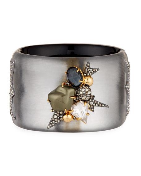 Alexis Bittar Baroque Pearlescent Burst Cuff Bracelet