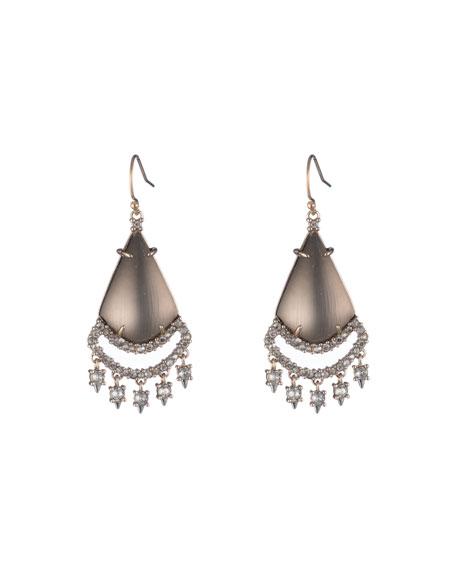 Crystal Lace Chandelier Earrings