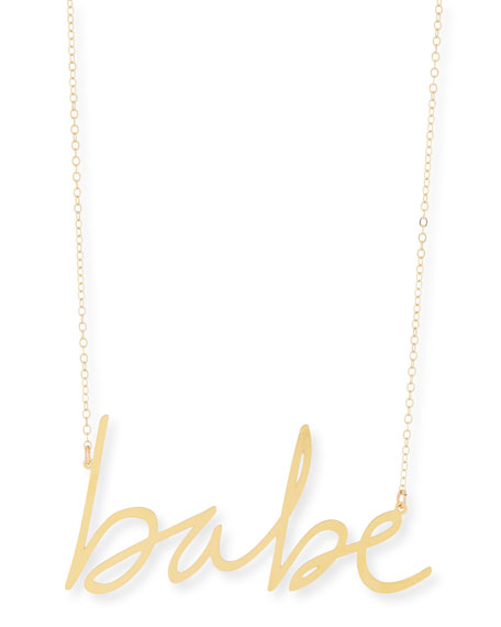 BREVITY Babe Large Pendant Necklace in Gold